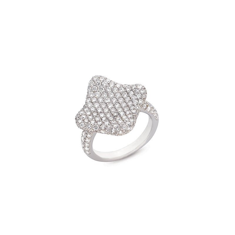 S. Kashi  & Sons White Gold M. Pave Ring