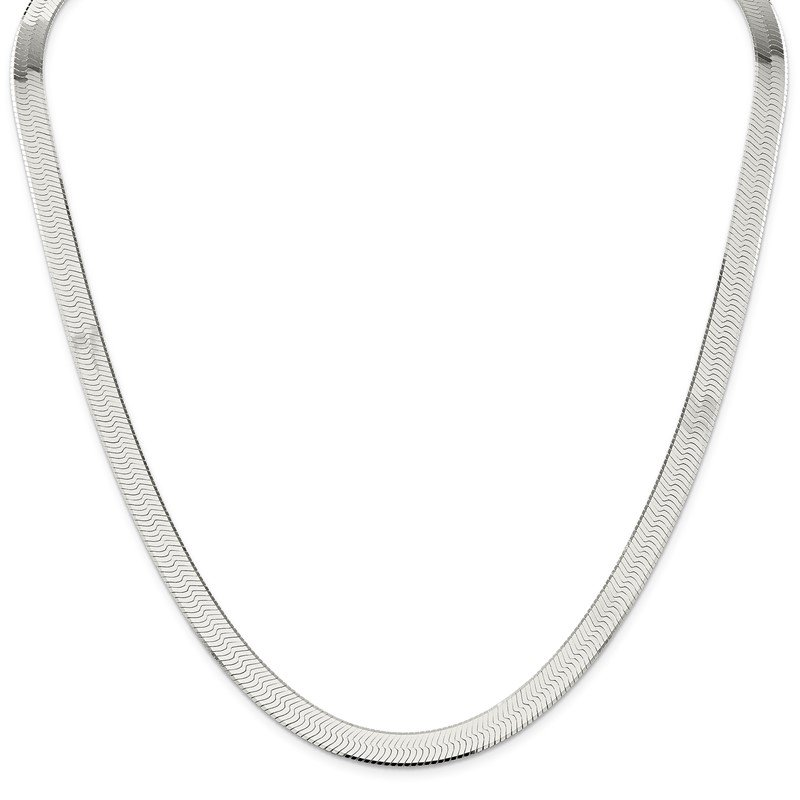 Arizona Diamond Center Collection Sterling Silver 8mm Magic Herringbone Chain