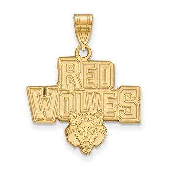 Gold-Plated Sterling Silver Arkansas State University NCAA Pendant