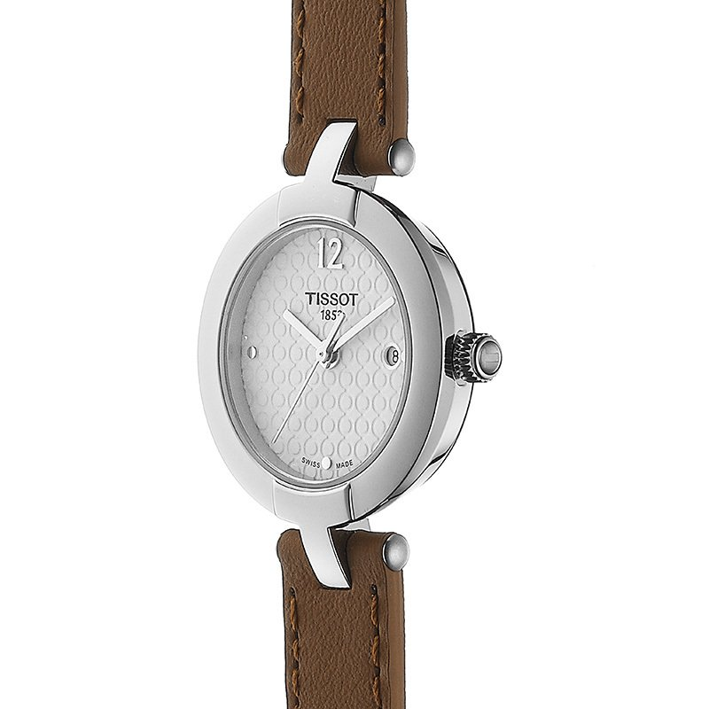 Tissot Pinky Ladies Quartz Watch with Light Brown Double Leather Strap