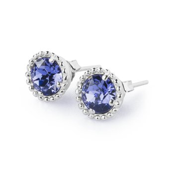 925‰ sterling silver and tanzanite Swarovski® Elements.