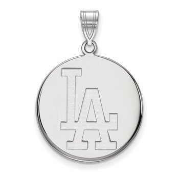 Sterling Silver Los Angeles Dodgers MLB Pendant