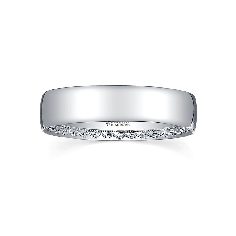 Maple Leaf Diamonds  Wedding Band