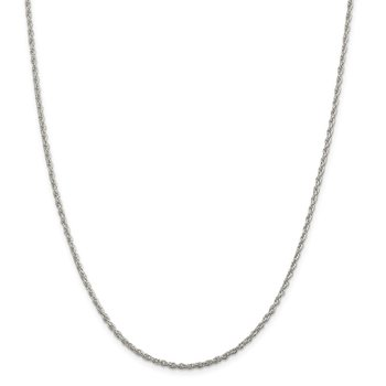 Sterling Silver 2mm Loose Rope Chain