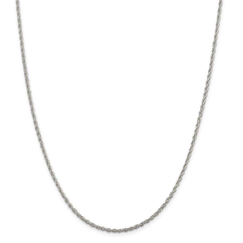 Quality Gold Sterling Silver 2mm Loose Rope Chain