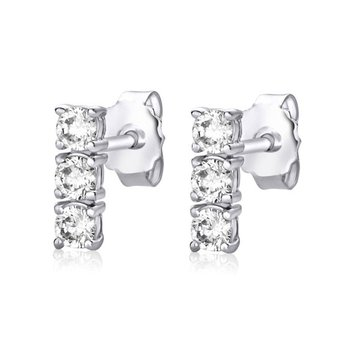 Three CZ Earrings