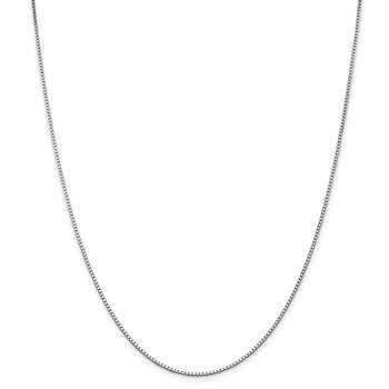 Leslie's 14K White Gold 1.3 mm Box w/Lobster Chain