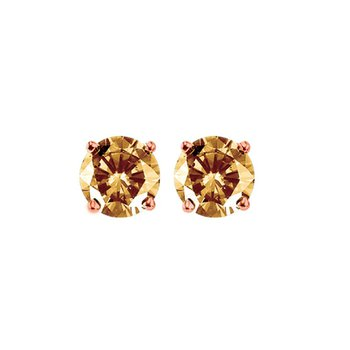 10K Brown Diamond Studs 1/4 ctw
