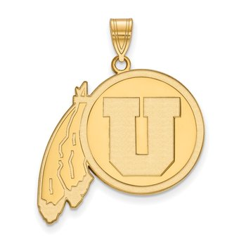 Gold University of Utah NCAA Pendant