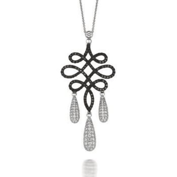 Gothica Black & White Diamond Pendant