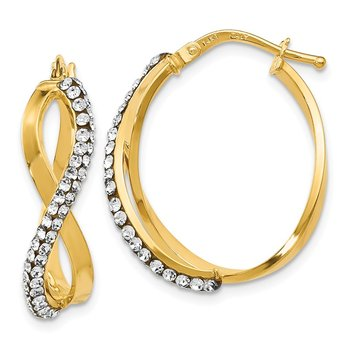 Leslie's 14K Crystals from Swarovski Hoop Earrings