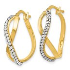 Leslie's Leslie's 14K Crystals from Swarovski Hoop Earrings