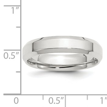 SS 5mm Bevel Edge Size 10 Band