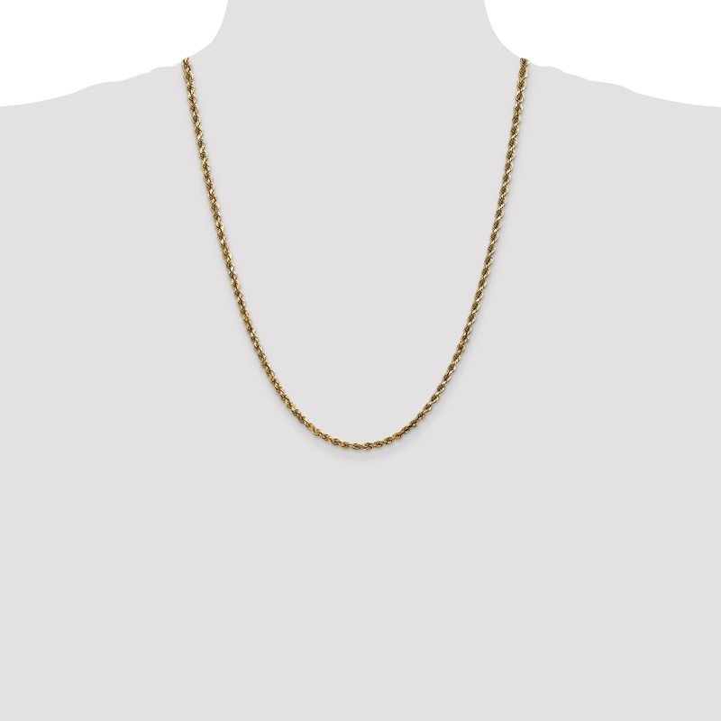 Quality Gold 14k 3.5mm D/C Rope with Lobster Clasp Chain
