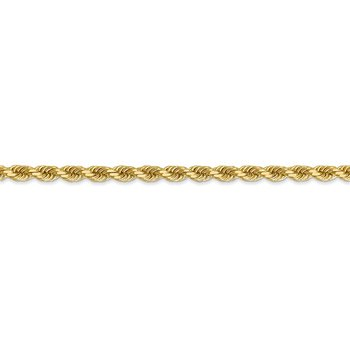 14k 3.5mm D/C Rope with Lobster Clasp Chain