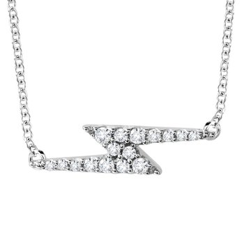 10K Lightning Bolt Diamond Necklace