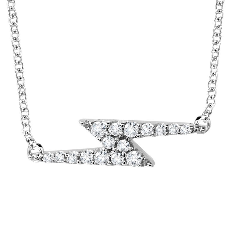 SDC Creations 10K Lightning Bolt Diamond Necklace