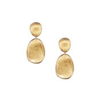 Lunaria Gold Small Double Drop Earrings