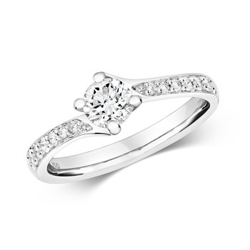 Diamond Ring Set Shoulders