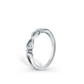 Kirk Kara 18K White Gold Diamond Twist Band