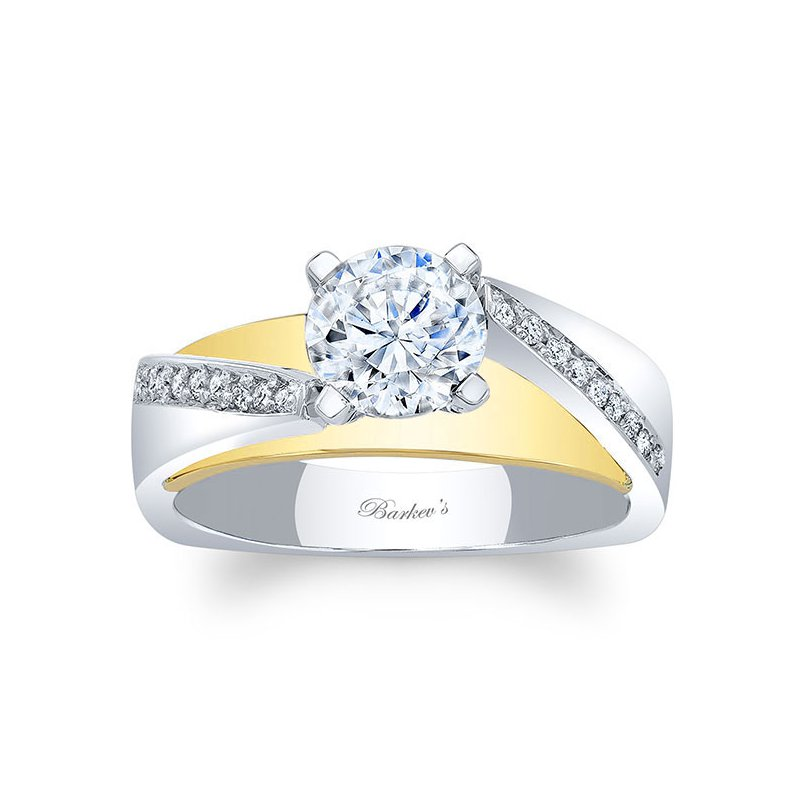 Barkev's White & Yellow Gold Engagement Ring