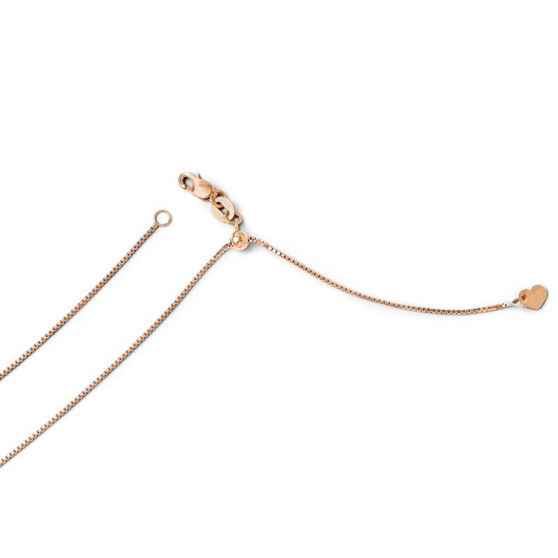 Leslie's Leslie's 14K Rose Gold Adjustable .8mm Box Chain