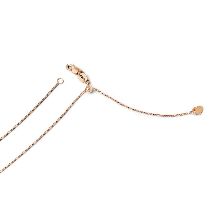 Leslie's 14K Rose Gold Adjustable .8mm Box Chain