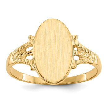 14k 14.0x8.0mm Closed Back Signet Ring