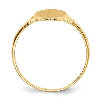 14k 14.0x8.5mm Closed Back Signet Ring