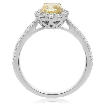 Platinum Two Tone Diamond Ring