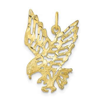 10k Solid Diamond-cut Eagle Charm