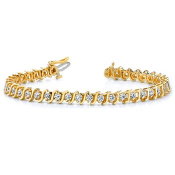 Yellow Gold Diamond Tennis Bracelet