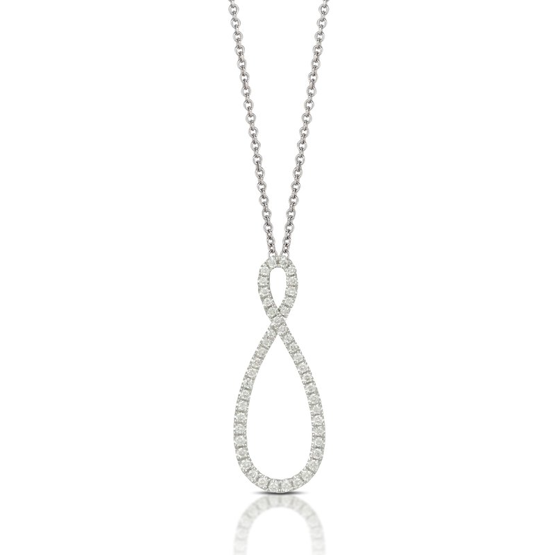 Doves Infinity Diamond Pendant 18KW