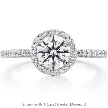 0.27 ctw. Camilla Halo Diamond Engagment Ring