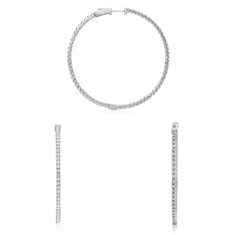 Roman & Jules Pave Diamond Hoop Earrings