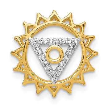 14k 1/10ct. Diamond Vishuddha/Throat Chakra Chain Slide