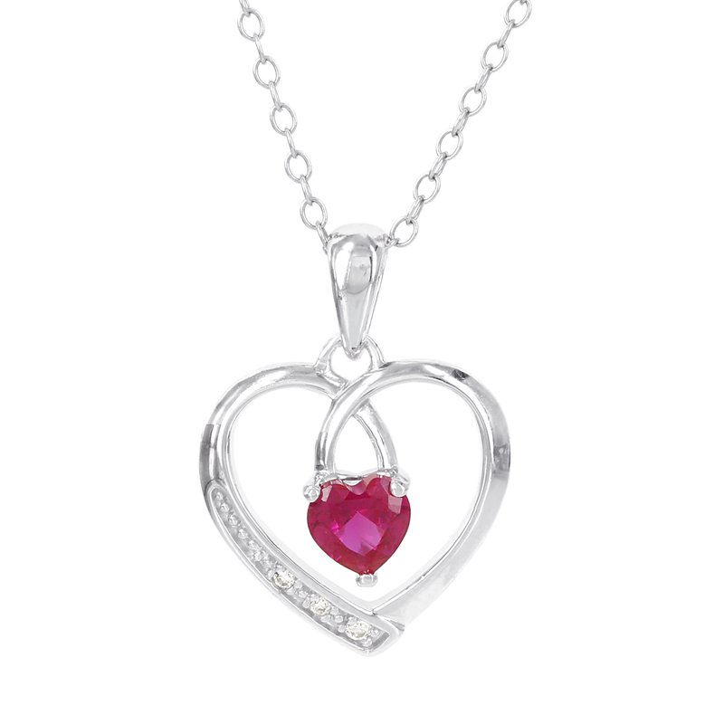 bbbd7d0886fd4 Moody's Jewelry: Moody's Signature Sterling Silver Created Ruby and ...