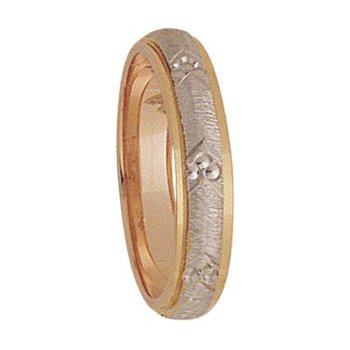 4mm 3T27 Ladies Two-Tone Wedding Band