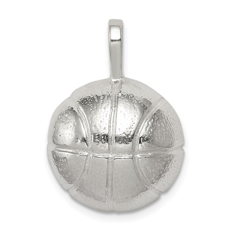 Quality Gold Sterling Silver Basketball Charm