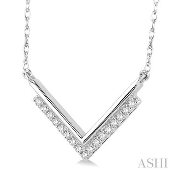 'v' shape diamond pendant