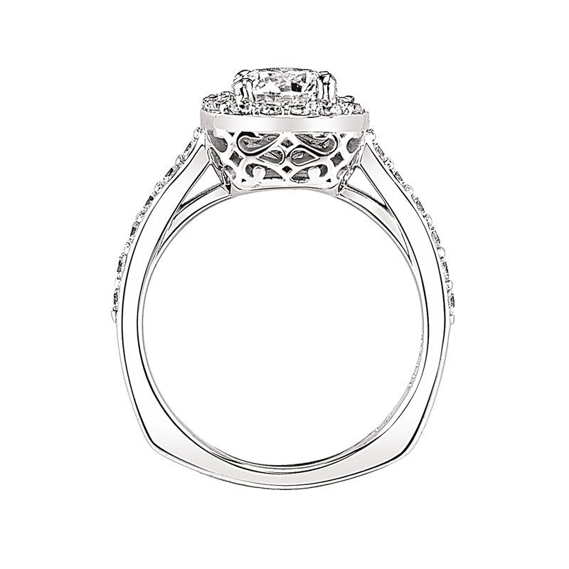 Halo Engagement Ring by Love Story