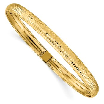 14k Textured Flexible Bangle