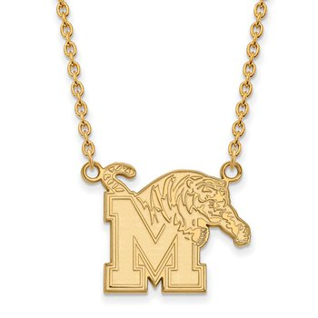 Gold-Plated Sterling Silver University of Memphis NCAA Necklace