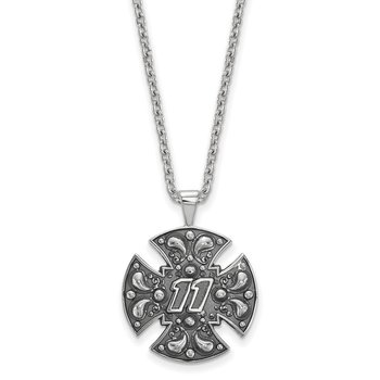 Sterling Silver 11 Denny Hamblin NASCAR Necklace