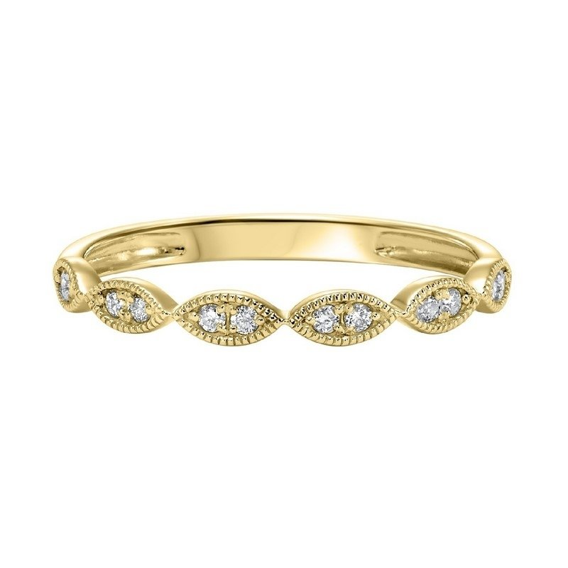Calvin Broyles Diamond 2-Stone Marquise Stackable Band in 10k Yellow Gold