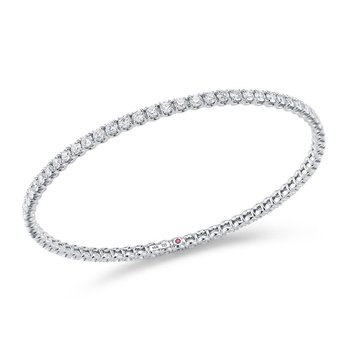 Bangle With Diamonds &Ndash; 18K White Gold, M