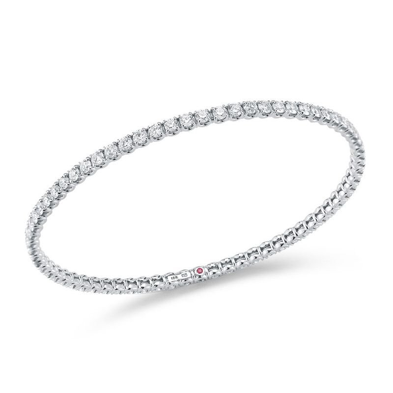 Roberto Coin Bangle With Diamonds &Ndash; 18K White Gold, M