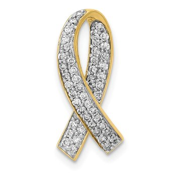 14k Diamond Awareness Pendant