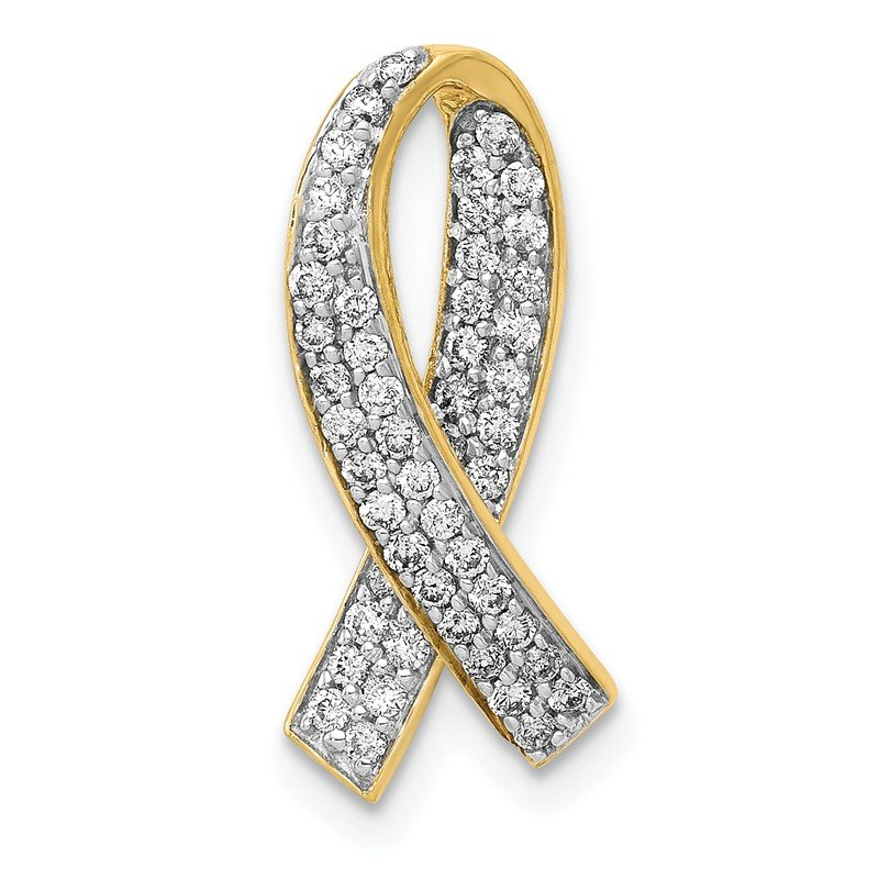 Quality Gold 14k Diamond Awareness Pendant