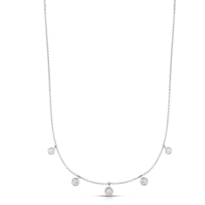 Royal Chain Silver CZ Dangles Necklace